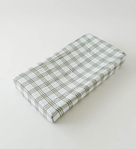 Brushed Muslin Changing Pad Cover - Pendleton Plaid