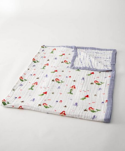 Big Kid Muslin Quilts - Mermaid