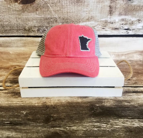Custom MN Hat - Coral