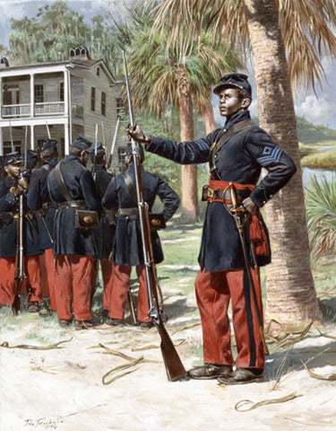 FIRST SOUTH CAROLINA VOLUNTEER INFANTRY Civil War Print by Don Troiani