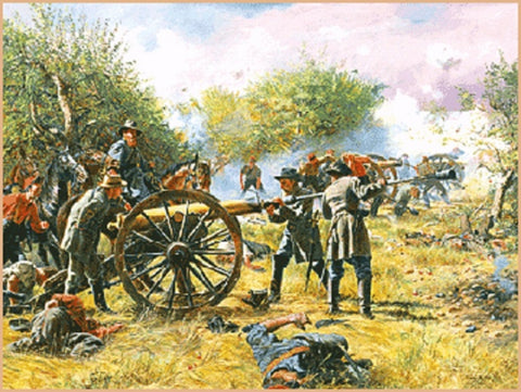BATTERY LONGSTREET Limited Edition Civil War Print  by Don Troiani