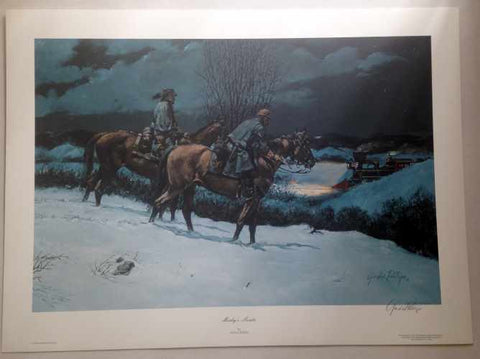 MOSBY'S SCOUTS Limited Edition Civil War Print by Gordon Phillips