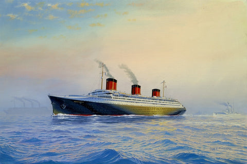 SS NORMANDIE Limited Edition Print by Joe Flood - Mint