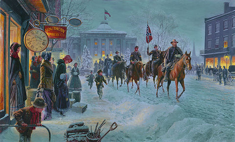 WINTER RIDERS Limited Edition Civil War Print by Mort Kunstler