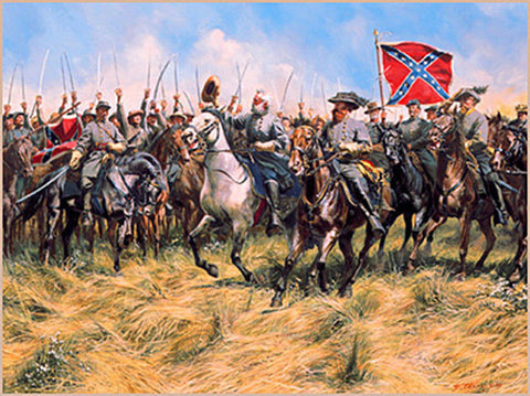 BRANDY STATION REVIEW Limited Edition Civil War Print by Don Troiani