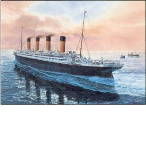 GRACE AND GLORY  Print of the R.M.S. Titanic Maiden Voyage by Tom Freeman