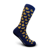 Blue men's socks ducks