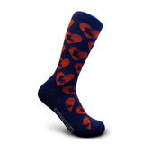 Blue men's socks Louisiana hearts