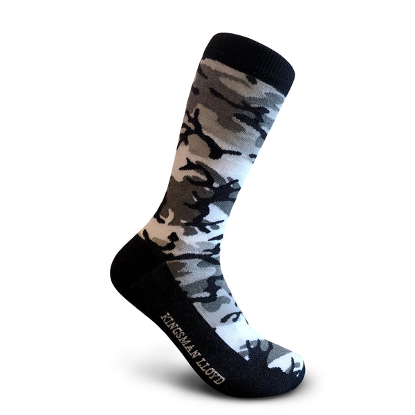 Men's Socks White Camo