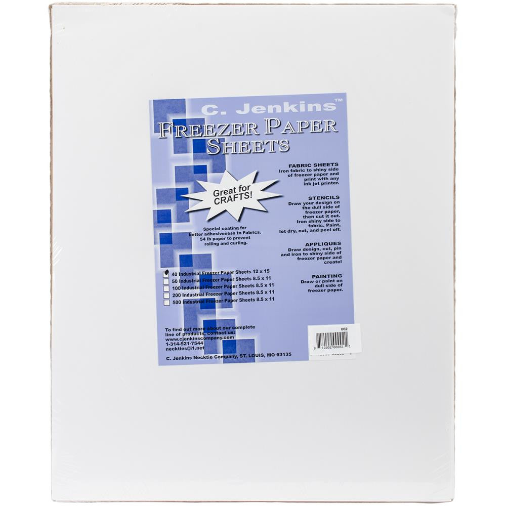 "Freezer Paper Sheets - 12"" x 15"" - 40 pack - Jenkins - Craft de Ville"