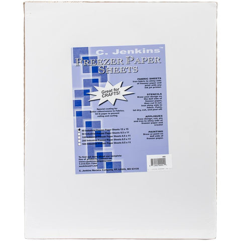 "Freezer Paper Sheets - 12"" x 15"" - 40 pack - Notions - Jenkins - Craft de Ville"