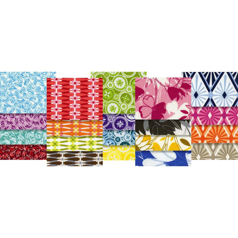True Colors - Jenean Morrison - Fat Quarter Pack - Fabric - Free Spirit - Craft de Ville