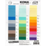 2017 Kona Colour Chart - Kona Cotton - Craft de Ville