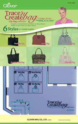 Trace 'n Create Bag Templates - City Bag Collection - Clover - Craft de Ville