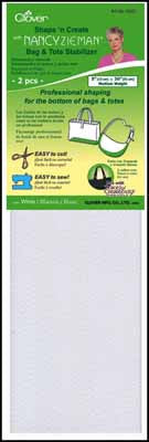"Shape 'n Create with Nancy Zieman (Bag & Tote Stabilizer) White 5""x20"" - Interfacing & Stabilizers - Clover - Craft de Ville"