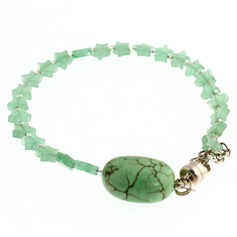 Aventurine Stars and turquoise bracelet - One of a Kinds - Craft De Ville - Craft de Ville