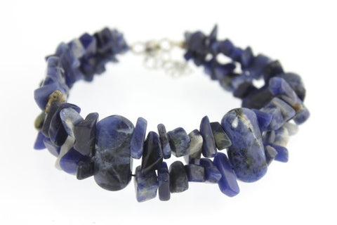 Inukshuk Sodalite bracelet with silver plate clasp - One of a Kinds - Craft De Ville - Craft de Ville