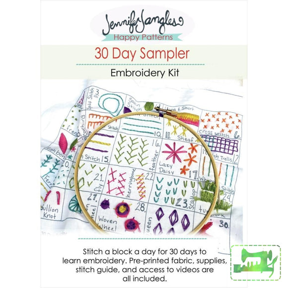 30 Day Sampler Embroidery Kit - Jennifer Jangles Kits