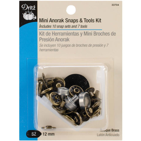 Mini Anorak Snaps & Tools Kit - Dritz - Craft de Ville
