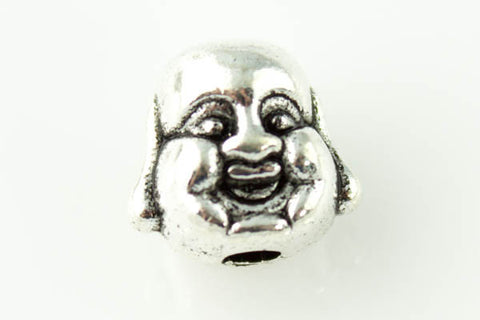 Buddha Head Bead - Antique Silver - Beads & Findings - Craft De Ville - Craft de Ville