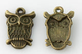 Owl Charm - Vintage Bronze - Beads & Findings - Craft De Ville - Craft de Ville