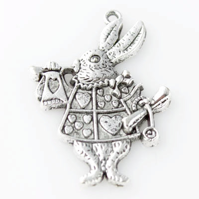 Rabbit Pendant - Antique Silver - Beads & Findings - Craft De Ville - Craft de Ville