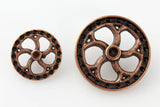 "Flywheel Button - Antique Copper - 5/8"" (16mm) - Craft De Ville - Craft de Ville"
