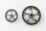 "Flywheel Button - Antique Silver - 7/8"" (22mm) - Buttons - Craft De Ville - Craft de Ville"