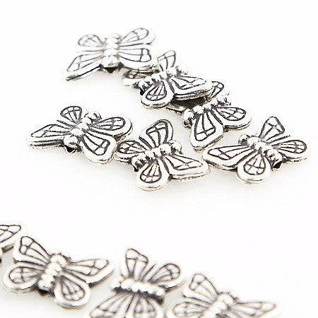 Thai Silver - Butterfly Beads - Beads & Findings - Perfectly Reasonable Tours - Craft de Ville