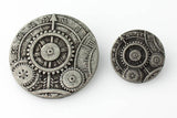 "Mechanism Button - Antique Silver - 1 5/8"" (41mm) - Buttons - Craft De Ville - Craft de Ville"