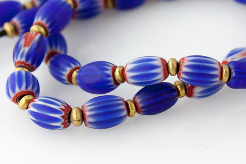 Vintage Moroccan Glass Beads - Small - Strand - Perfectly Reasonable Tours - Craft de Ville