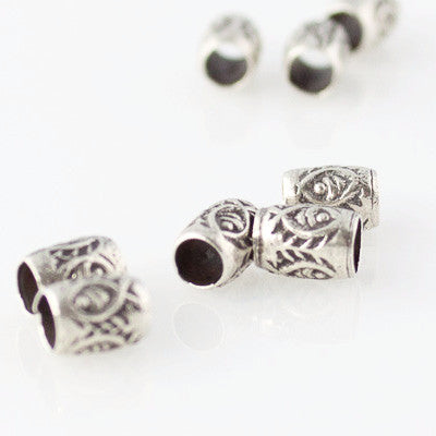 Thai Silver - Tiny Fish Tube Spacers - Perfectly Reasonable Tours - Craft de Ville