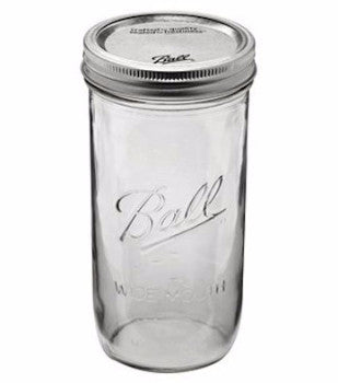 Mason Jar - 24 ounce - Wide-Mouth - Ball - Craft de Ville