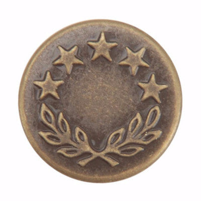 Bachelor Button - Antique Brass - 10 pack - Buttons - Snap Source - Craft de Ville