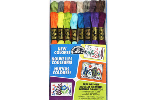 DMC Cotton Embroidery Floss - 16 New Colours Pack - DMC - Craft de Ville