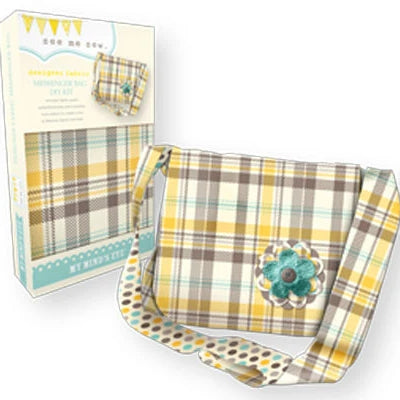 Messanger Bag Kit - Yellow Plaid - My Mind's Eye - Craft de Ville