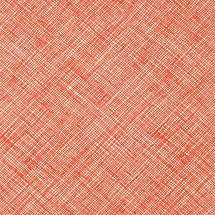 Carolyn Friedlander - Architextures Crosshatch - Tangerine - Robert Kaufman - Craft de Ville