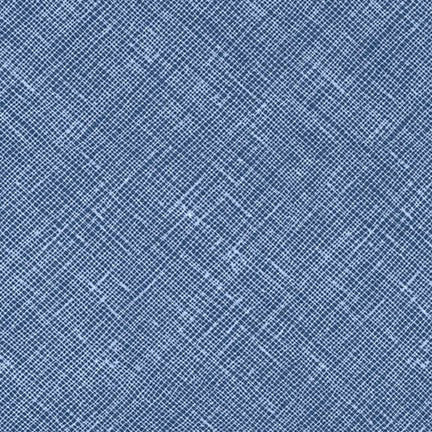 Carolyn Friedlander - Crosshatch - Cadet - Fabric - Robert Kaufman - Craft de Ville