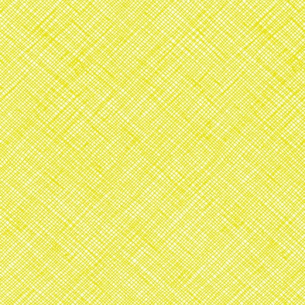 Carolyn Friedlander - Architextures Crosshatch - Acid Lime