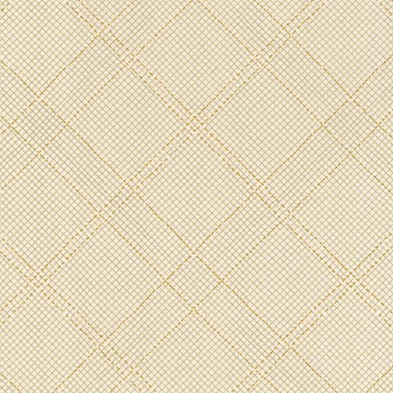 Carolyn Friedlander - Carkai Metallic 15793 - Bone - Fabric - Robert Kaufman - Craft de Ville