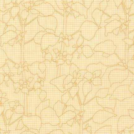 Carolyn Friedlander - Botanics 14262 - Curry - Fabric - Robert Kaufman - Craft de Ville
