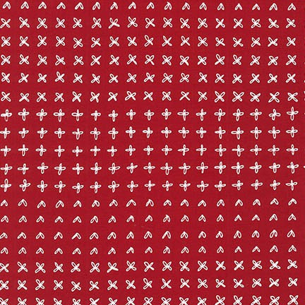 Karen Lewis -Blueberry Park - Chinese Red - Fabric - Robert Kaufman - Craft de Ville
