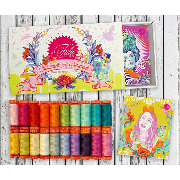 PREORDER APRIL - Aurifil 50WT Mini Spool Collection - Tula Pink Curiouser and Curiouser