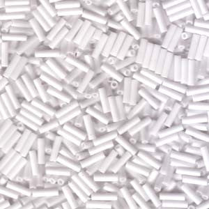 Bugle Beads #2 - Opaque White - 125g - Beads & Findings - Miyuki - Craft de Ville