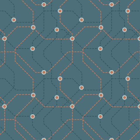 Lewis & Irene - City Nights - Underground in Teal & Copper - Lewis & Irene - Craft de Ville