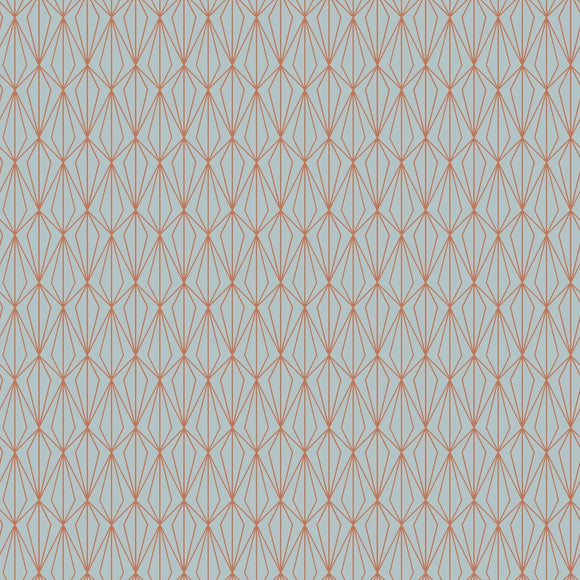 Lewis & Irene - City Nights - Architectural Light Blue & Copper - Lewis & Irene - Craft de Ville