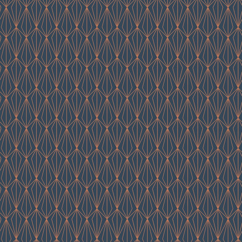 Lewis & Irene - City Nights - Architectural Dark Blue & Copper - Lewis & Irene - Craft de Ville