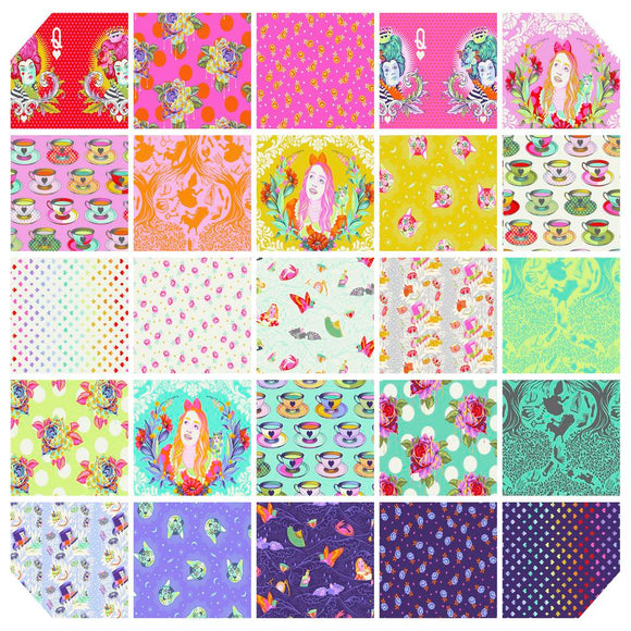 PREORDER APRIL - Tula Pink - Curiouser & Curiouser - Fat Quarter Pack