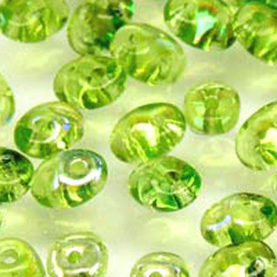 Superduo 2 Hole Seedbead - Olivine AB - 2.5X5mm - Matubo - Craft de Ville