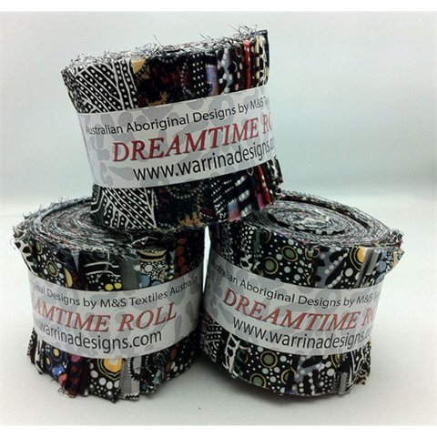 Dreamtime Roll - Black - Fabric - M & S Textiles - Craft de Ville